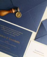 LUXURY NAVY BLUE INVITATION