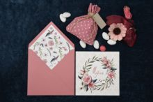 INVITATION BAROQUE FLOWER THEME