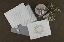 ROMANTIC FLORAL WINTER FLAVOR INVITATION