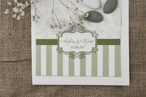 STRIPED BAROQUE INVITATION