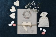 VINTAGE CRAFT FLORAL INVITATION