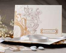 GOLDEN ROYAL BAROQUE INVITATION