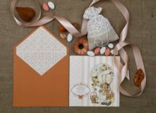 ROMANTIC SARAH KEY INVITATION