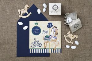 VINTAGE CAROUSEL STRIPE 2 INVITATION