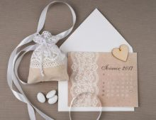 ROMANTIC LACE CALENDAR INVITATION