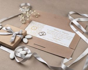 STYLISH CLASSIC GOLDEN STAMP INVITATION
